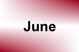 June name image