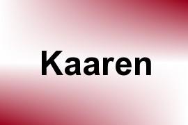Kaaren name image