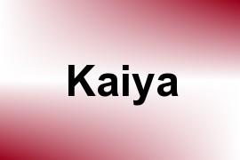 Kaiya name image