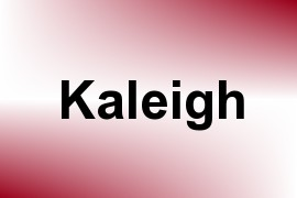 Kaleigh name image