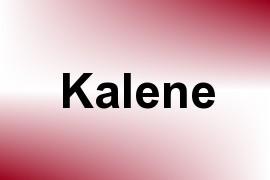 Kalene name image