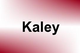 Kaley name image