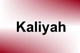 Kaliyah name image