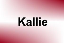 Kallie name image