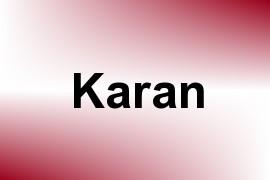 Karan name image