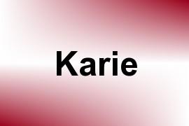 Karie name image