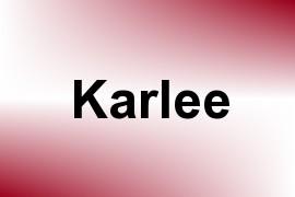 Karlee name image