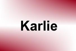 Karlie name image