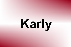 Karly name image