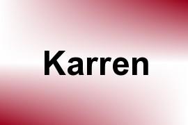 Karren name image