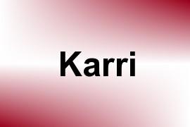 Karri name image