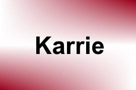 Karrie name image