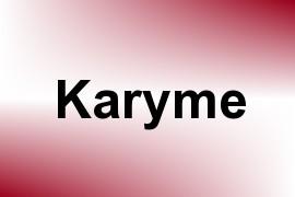 Karyme name image