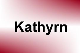 Kathyrn name image