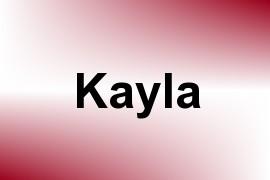 Kayla name image