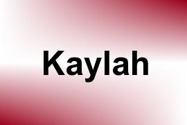 Kaylah name image