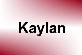 Kaylan name image
