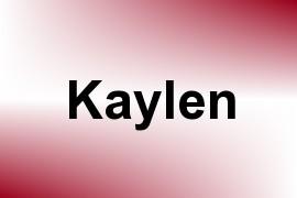 Kaylen name image