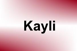 Kayli name image