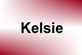 Kelsie name image