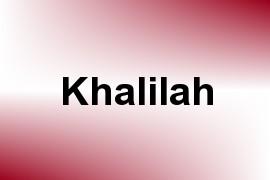 Khalilah name image