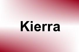 Kierra name image