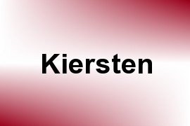 Kiersten name image