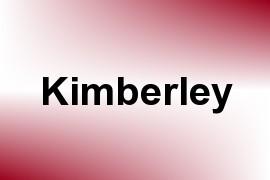 Kimberley name image