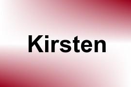 Kirsten name image