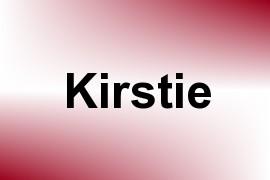 Kirstie name image