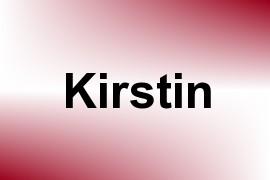 Kirstin name image