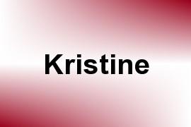 Kristine name image