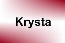 Krysta name image