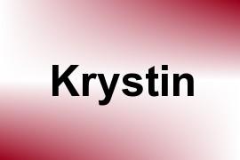 Krystin name image