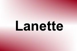 Lanette name image