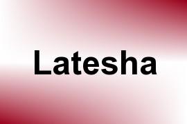 Latesha name image