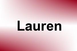 Lauren name image