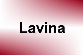 Lavina name image