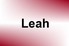 Leah name image