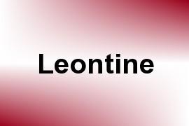 Leontine name image