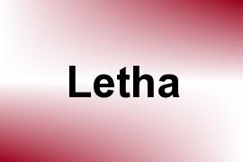 Letha name image