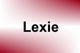 Lexie name image