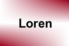 Loren name image