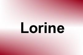 Lorine name image