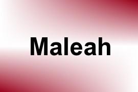 Maleah name image
