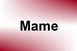 Mame name image