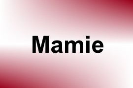 Mamie name image