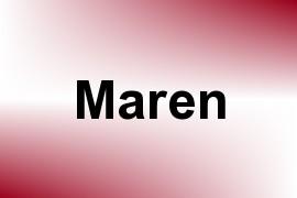 Maren name image