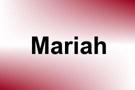 Mariah name image