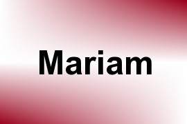 Mariam name image